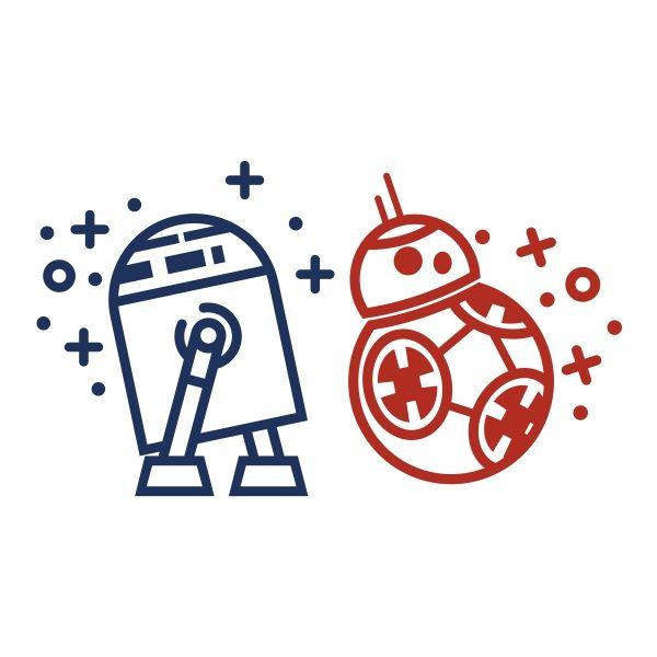 robot droids svg cuttable design