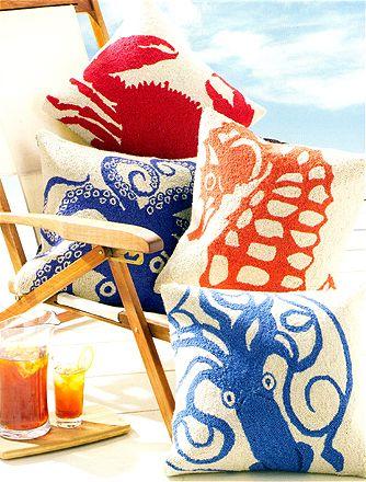 coastal home pillows