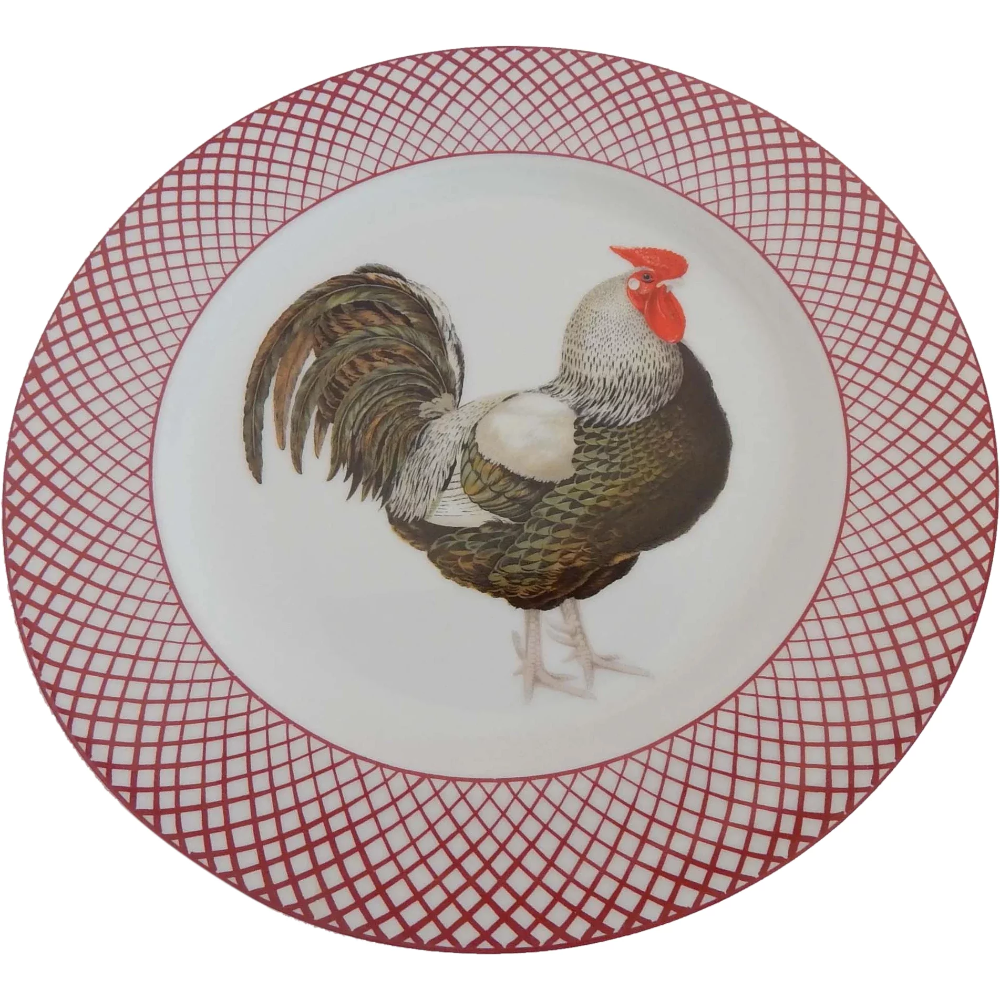 The Haldon Group Devonshire Black Rooster Plate Rooster Plates Rooster Hand Painted Ceramics