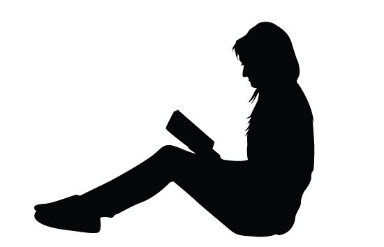 Women Reading Books Silhouette Vector Siluetas De Personas Silueta De Mujer Siluetas