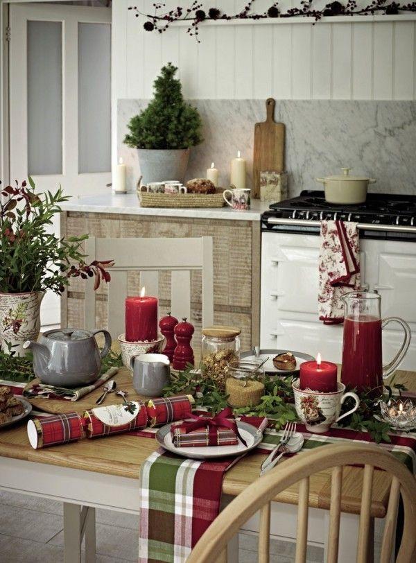 Weihnachtsdeko Im Landhausstil weihnachtsdeko landhausstil küche weihnachtsdekoration tischdeko