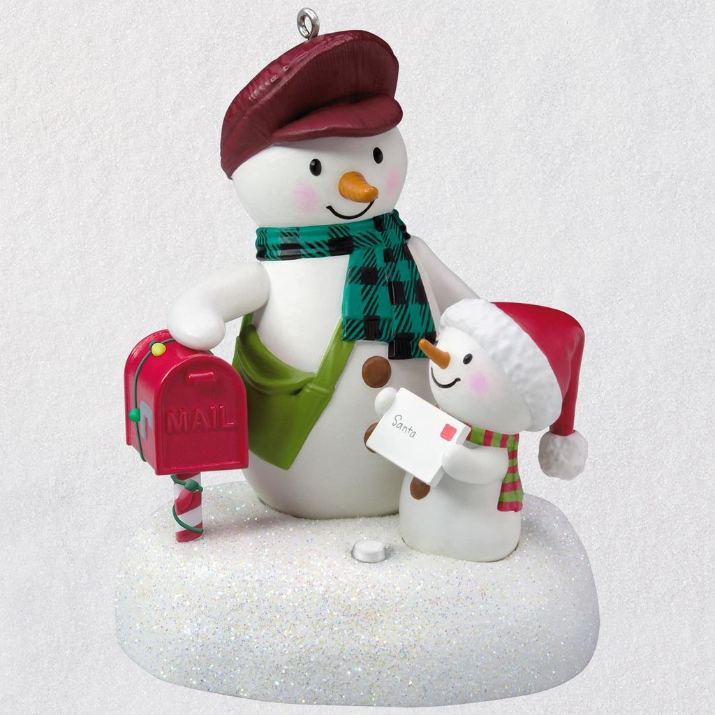 Special Delivery Snowmen Musical Ornament Hallmark