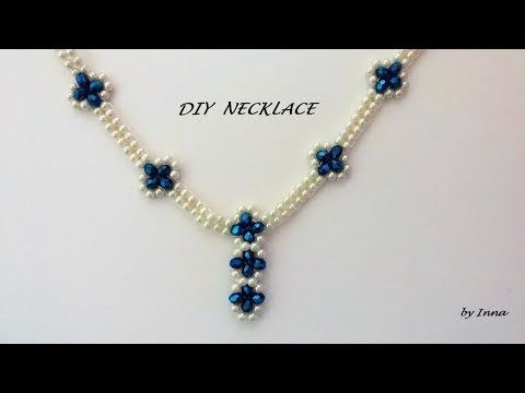 How to make elegant beaded necklace and earrings set - YouTube #beads