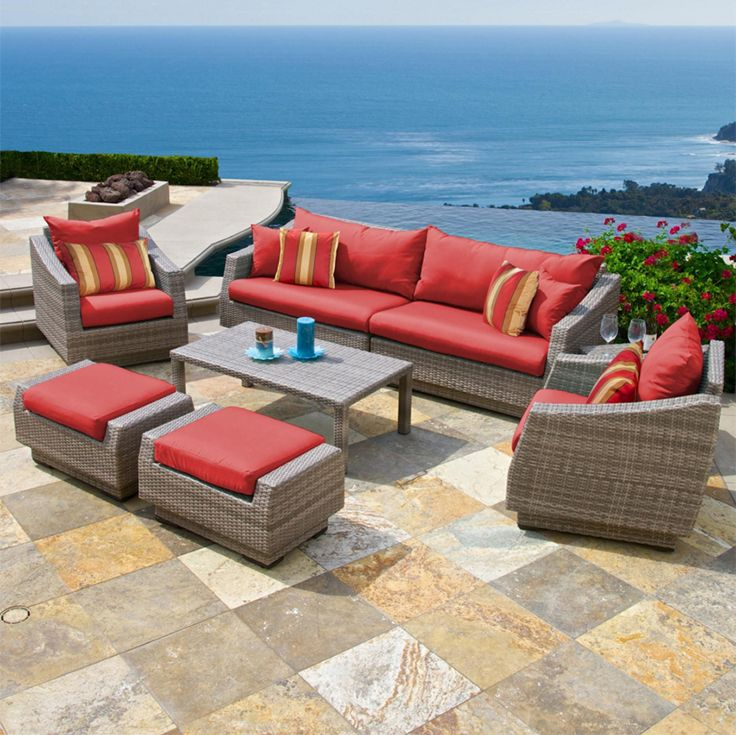 Red Star Traders 8 Piece Sofa And Chair Set