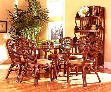 Boca Rattan Antigua 7 Pc Rattan Dining Set In Royal Oak $2 03800 Pleasing Indoor Wicker Dining Room Sets Inspiration