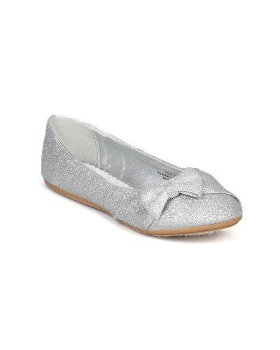 For ABBY      $15   Little Angel Teshi-400E Glitter Bow Decor Ballet Loafer Flat (Toddler/Little Girl/Big Girl) - Silver (Size: Toddler 10) Little Angel http://www.amazon.com/dp/B00DEU2IKI/ref=cm_sw_r_pi_dp_MTHmub0K41N3M