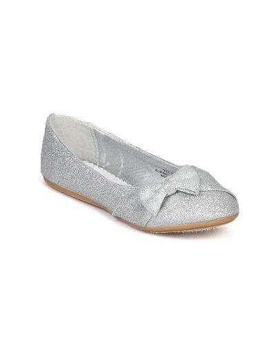 For ABBY      $15   Little Angel Teshi-400E Glitter Bow Decor Ballet Loafer Flat (Toddler/Little Girl/Big Girl) - Silver (Size: Toddler 10) Little Angel http://www.amazon.com/dp/B00DEU2IKI/ref=cm_sw_r_pi_dp_MTHmub0K41N3M