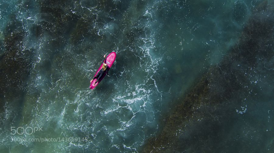 Surfer Girl Padding Out by GizaDog