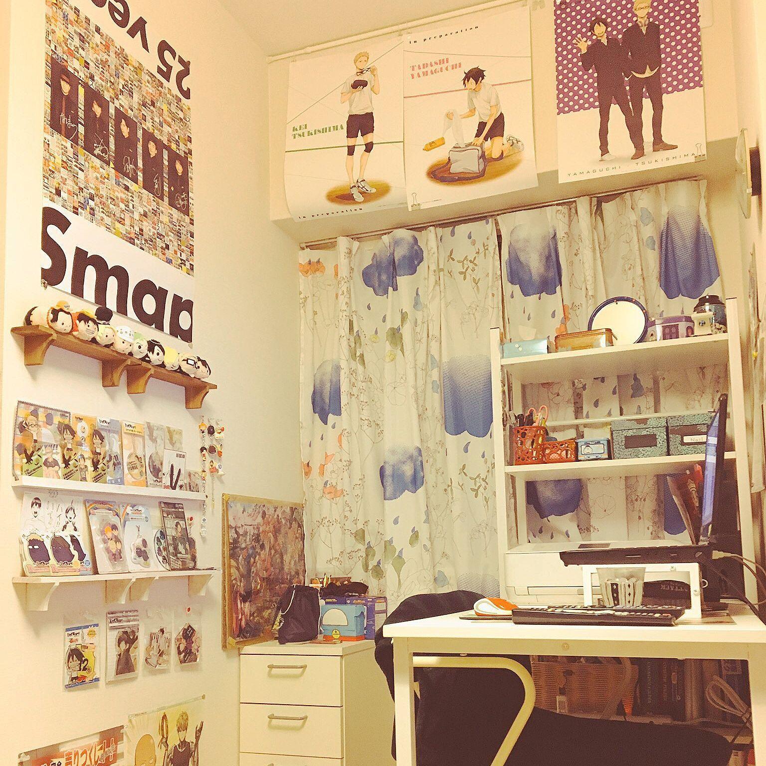 壁 天井 カーテン ポスター おたく部屋 趣味の部屋 などのインテリア
