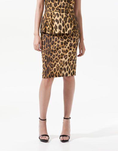 PRINTED SHEATH SKIRT - Skirts - Woman - ZARA