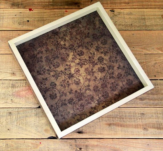 Decorative Ottoman Tray Mesmerizing Serving Tray Ottoman Tray Coffee Table Decor Wood Brown Floral Review