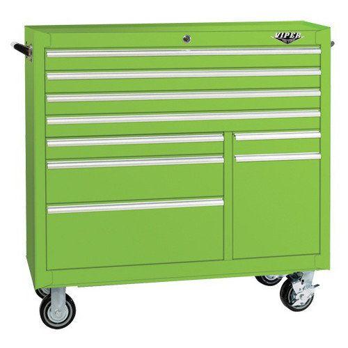 Viper Tool Storage 41u0027u0027 9 Drawer Steel Rolling Cabinet: Tools : Walmart.com