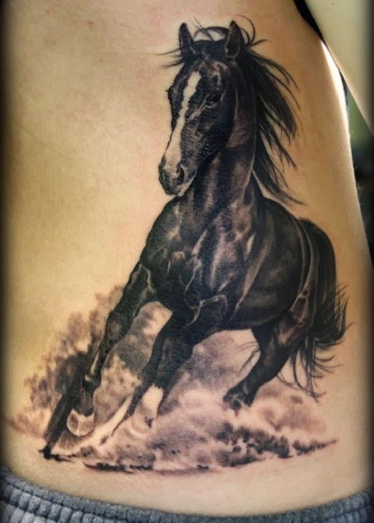 Running Horses Tattoo Hinh Xăm Ngựa Y Tưởng Hinh Xăm Hinh Xăm