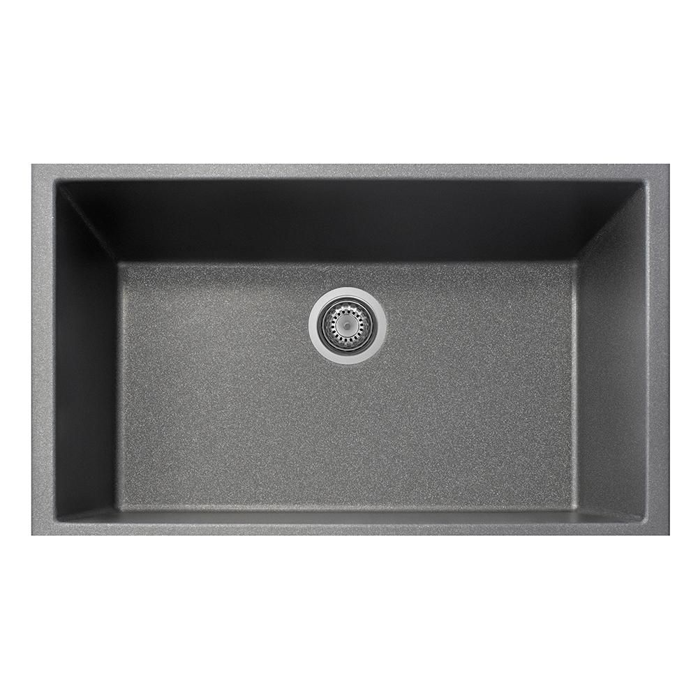 One Drop In Granite Composite 33 In 1 Hole Single Basin Kitchen