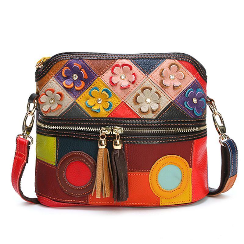 aa078a5655d Only US$48.22 shop vrouwen echt leer floral crossbody tas vintage tas at  Banggood.com. Buy fashion crossbodytassen online. - Banggood Mobiel