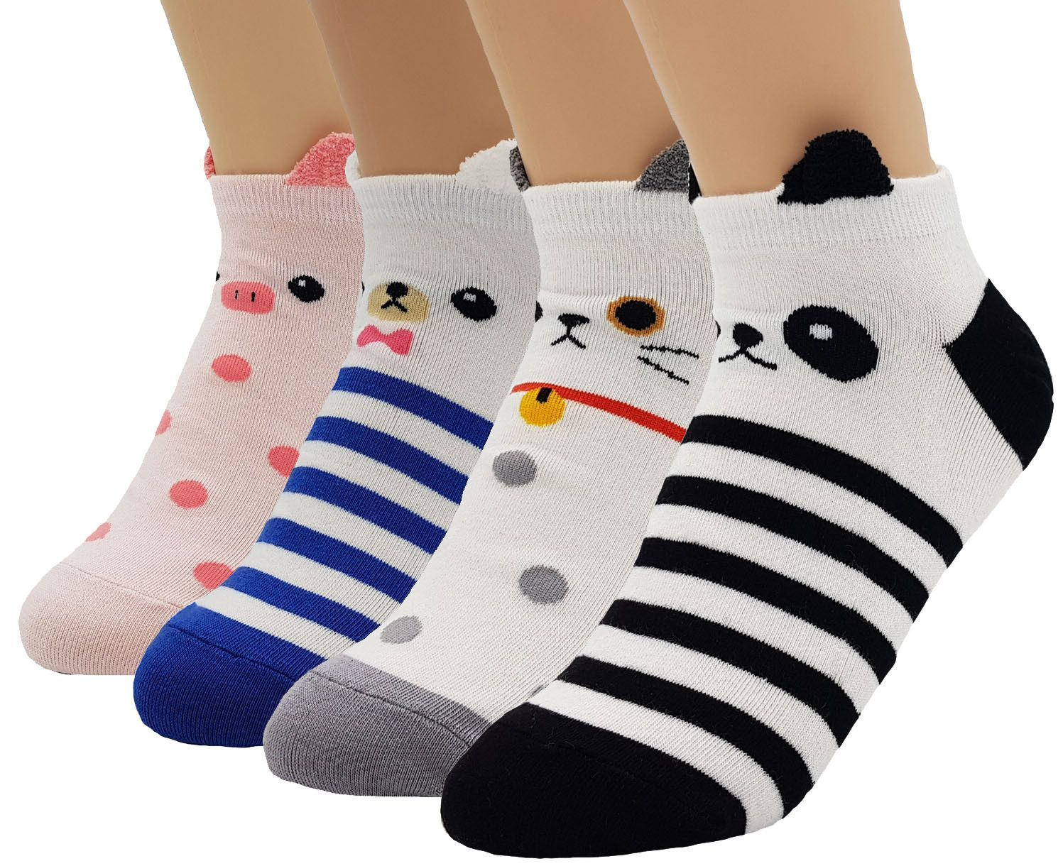 Ladies Girls Fashion ankle socks cotton rich size 4-7 Designer Multi Theme!
