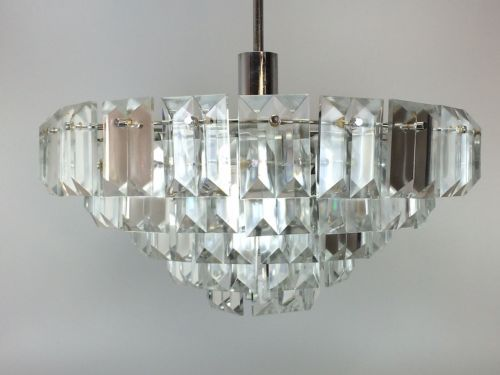 XL 60er 70er Jahre Kronleuchter Chandelier Kinkeldey Chrom Glas Space Age  Design In Antiquitäten U0026 Kunst