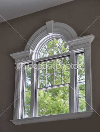 Arched Window With Crown Molding Window Design Window Trim Exterior Moldings And Trim