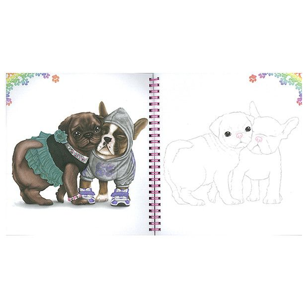 Create Your Doggy Colouring Book Top Model Topmodel