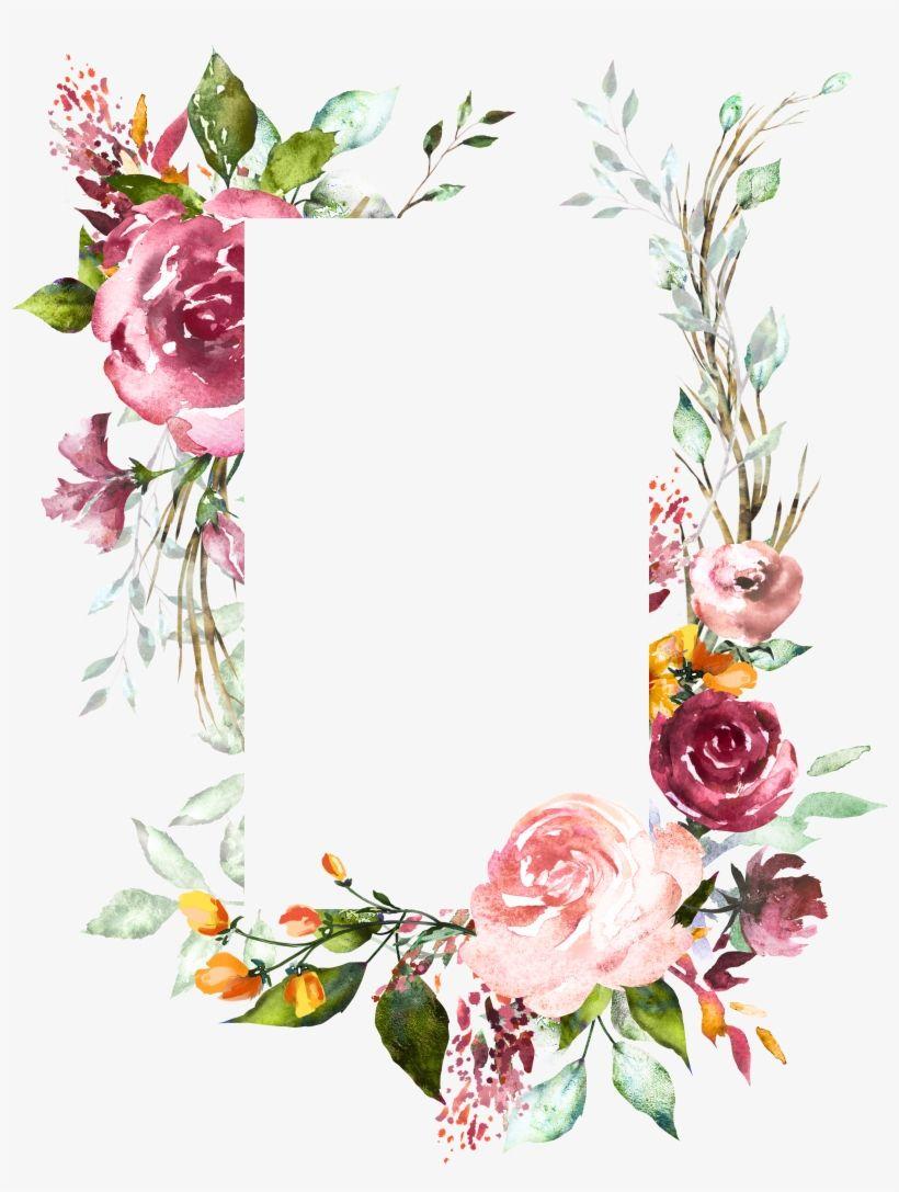 Download H804 Flower Frame Flower Art Watercolor Flowers Vintage Floral Wedding Invitation Background Designs P Flower Frame Flower Art Watercolor Flowers