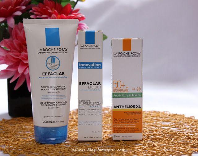 غسول و كريم إيفاكلار واقي الشمس أنثيليوس من لاروش بوزيه Skin Care Gel Blog