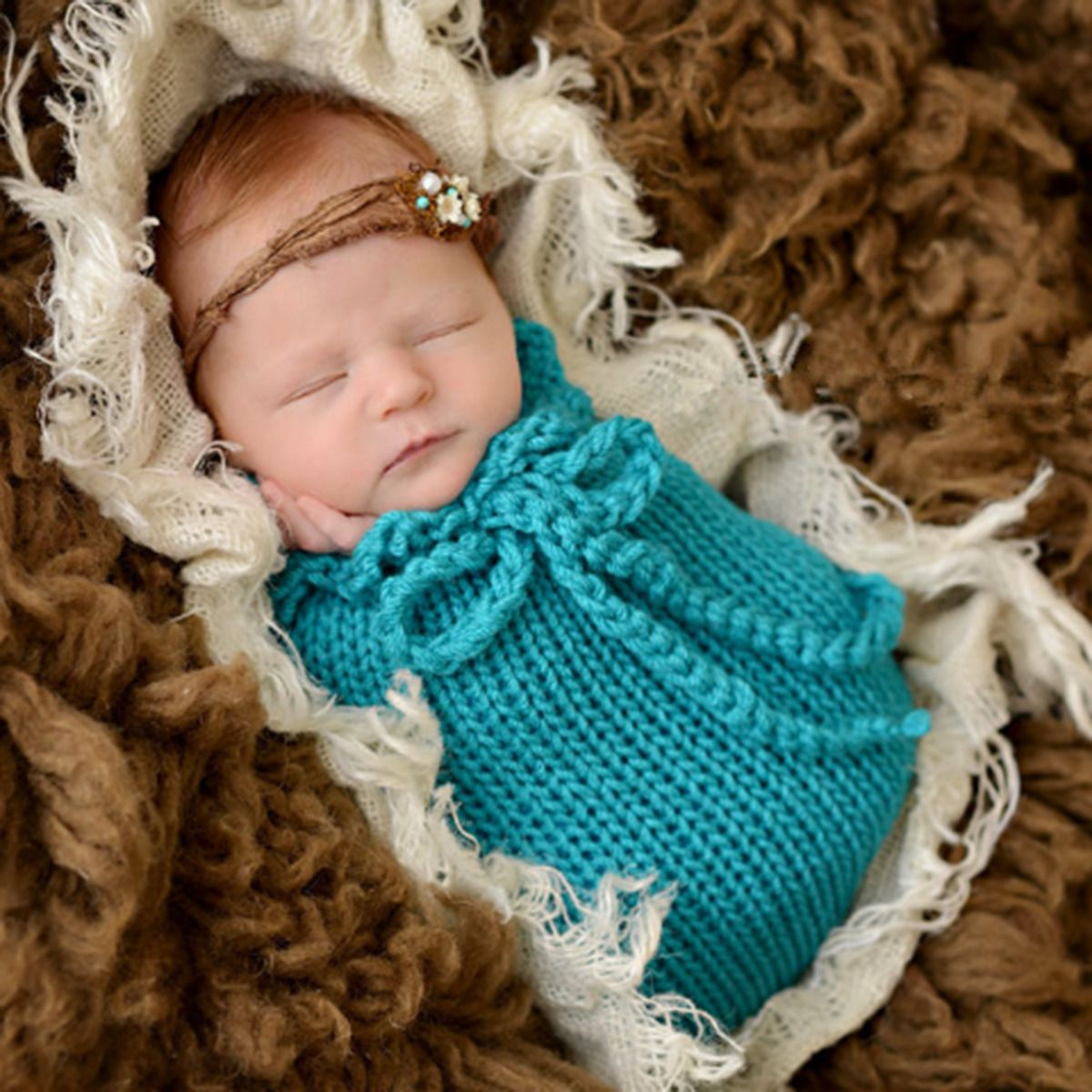 4.99 - Newborn Baby Photography Photo Props Infant Swaddle Wrap Blanket  Sleeping Bag  ebay  Home   Garden 763247999f1d