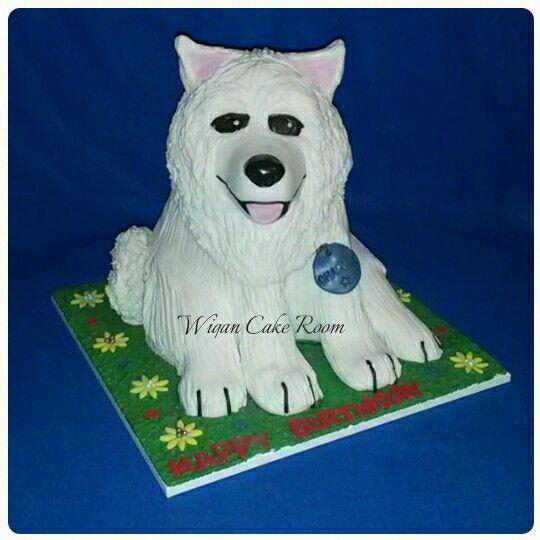 Samoyed Dog Cake Love This Samoyed Dogs Dog Cake Samoyed