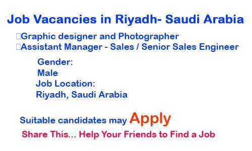 Job Vacancies In Riyadh Saudi Arabia  Job Vacancies