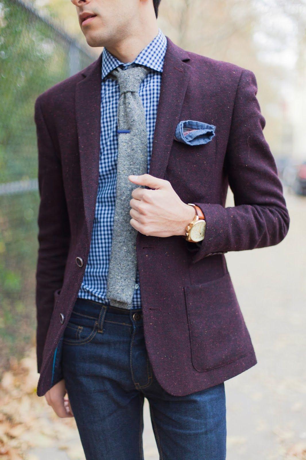 b561c7cc0d91 Purple Tweed Jacket