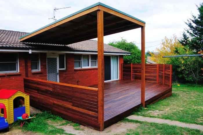 Australian decks with pitched roof google search for Roof decking material options