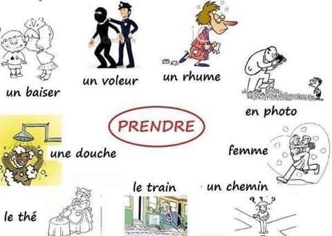 Czasowniki trzeciej grupy - czasownik prendre - zwroty 1 - Francuski przy kawie