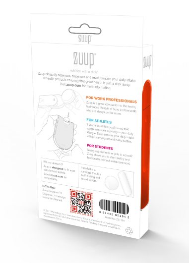 Keep your medication with you every time with Zuup!!