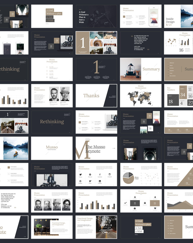 Musso presentation keynote powerpoint google slides for Table design google slides