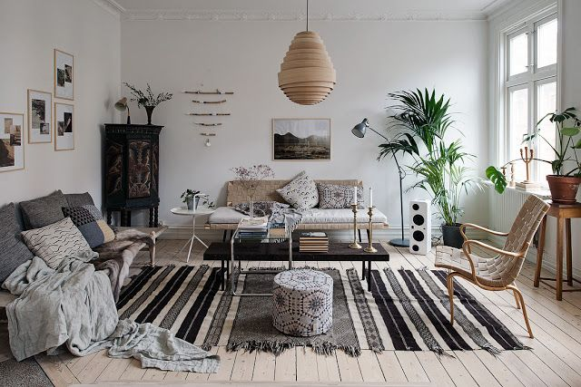Delightful swedish apartment with charming decor