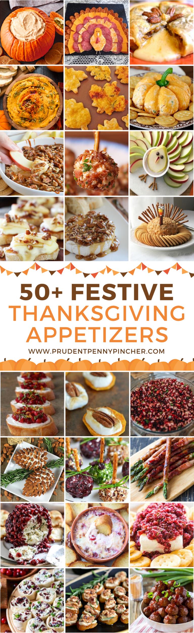 50 Festive Thanksgiving Appetizers
