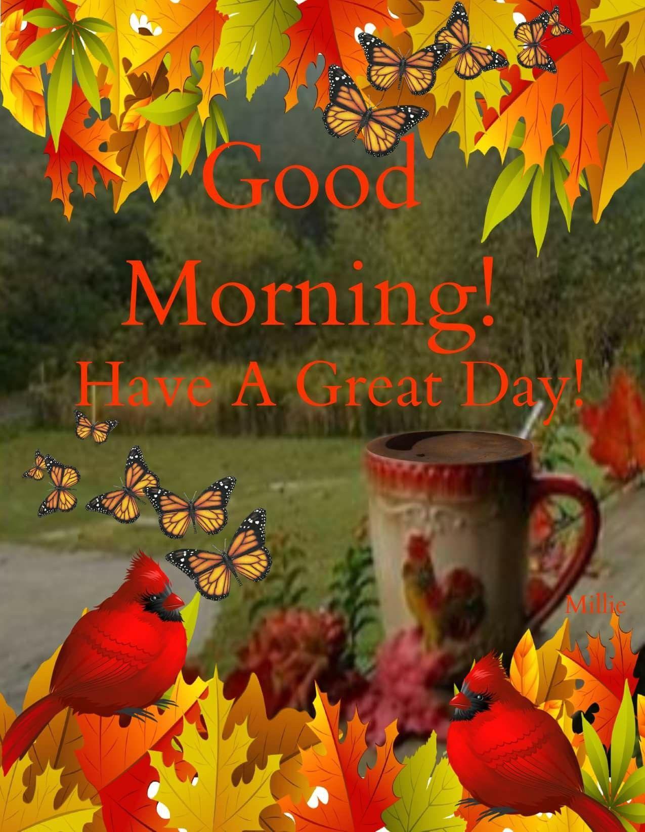 Картинки смешных художников с добрым осенним утром, днем