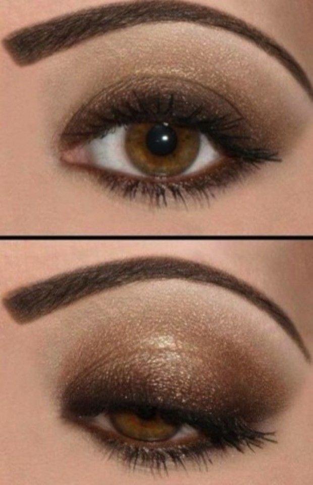 maquillaje de noche para ojos marrones mujer y estilo