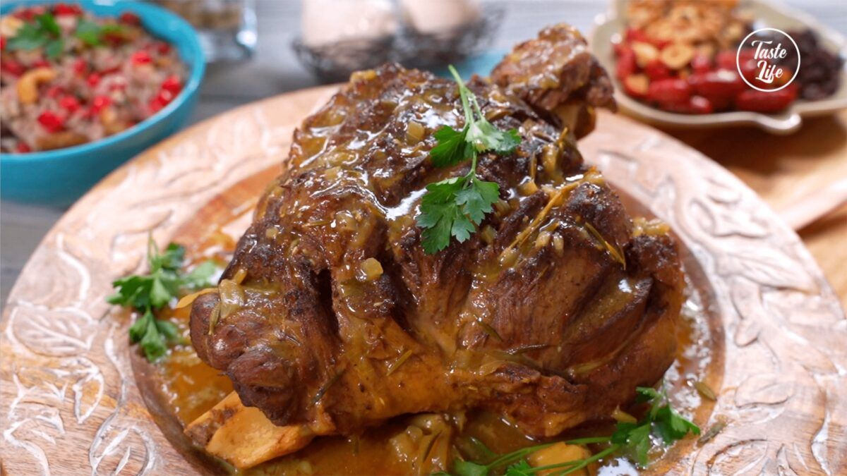 Lamb Shanks With Jeweled Rice - Taste Show Succule