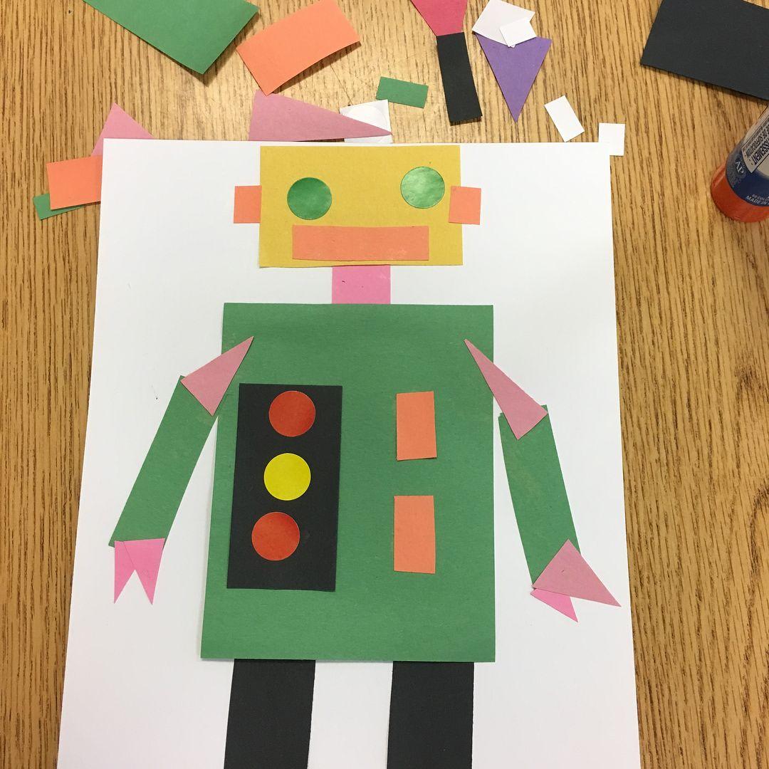 Open Ended 2d Shape Robot Kindergarten 3 Likes 1 Comments