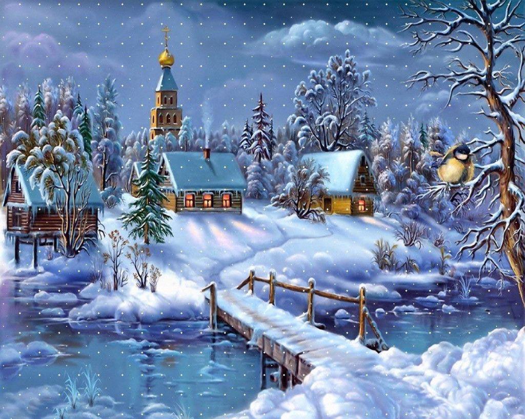 Fonds D Ecran Noel Paysages Maximumwallhd Paysage Noel Fond Ecran Noel Illustration Noel