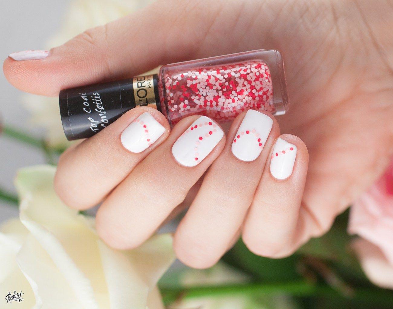 idées de nail art simples pour la saint valentin concours de