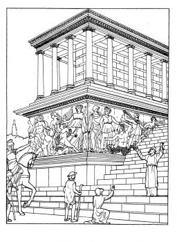 Great Altar Of Zeus At Pergamum Coloring Pages Ancient Greek