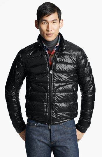 045511a33 Moncler  Acorus  Down Moto Jacket available at  Nordstrom