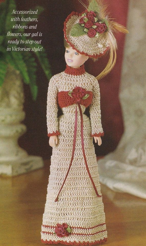 Victorian Flair, Fashion Doll Clothes Crochet Pattern Pages BYOB ...