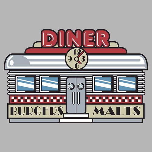 50s Kitchen Art: Bowling Retro Diner
