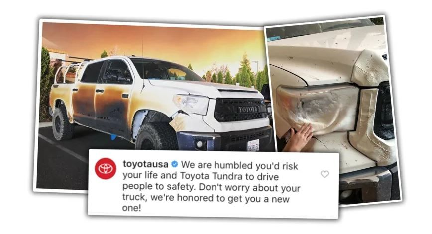 Nurse Who Cooked His Truck To Help California Wildfire Victims Getting New Truck From Toyota New Trucks California Wildfires Toyota