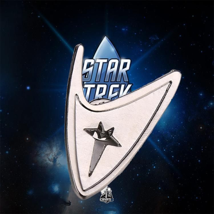 Silver Color Alloy Star Trek Brooch 2105 Summer Style  Fashion jewelry Brooches Pins For Women Costume Jewellery 10pcs/bag - http://www.aliexpress.com/item/Silver-Color-Alloy-Star-Trek-Brooch-2105-Summer-Style-Fashion-jewelry-Brooches-Pins-For-Women-Costume-Jewellery-10pcs-bag/32376730875.html
