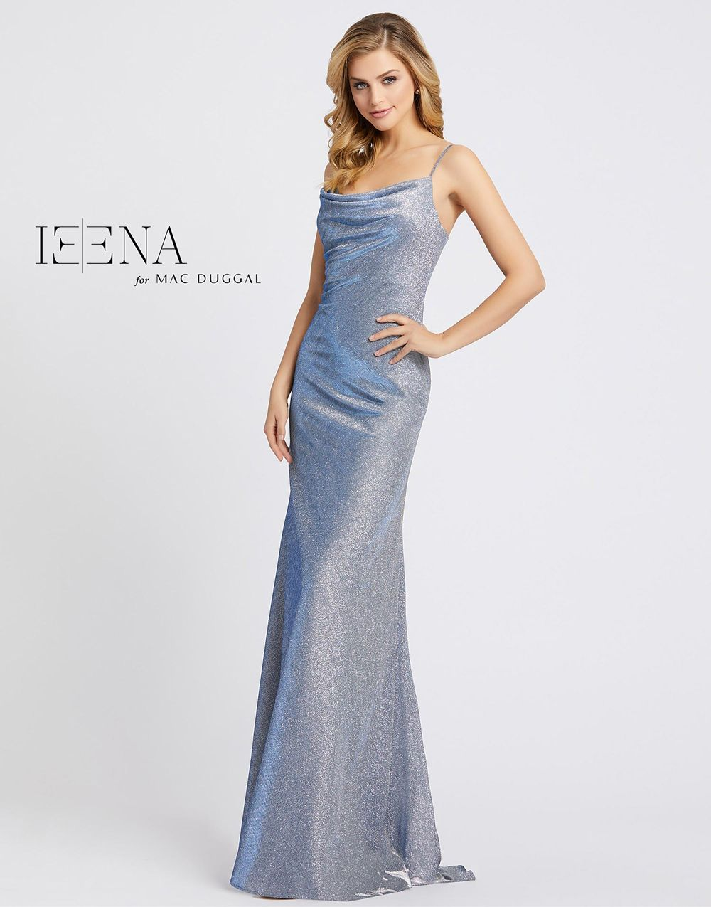 Mac Duggal 26136i Cowl Neck Formal Gown In 2020 Evening Gowns Sparkle Prom Dress Ieena Duggal
