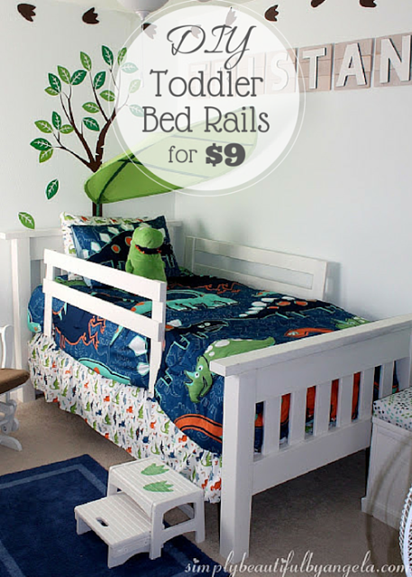 Simply Beautiful By Angela DIY Toddler Bed Rails On The Cheap