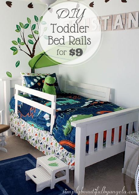 Diy Toddler Bed Rails Diy Toddler Bed Dinosaur Boys Room Bed Rails For Toddlers
